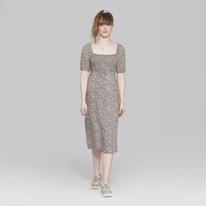 Wild Fable Midi Floral Print Dress